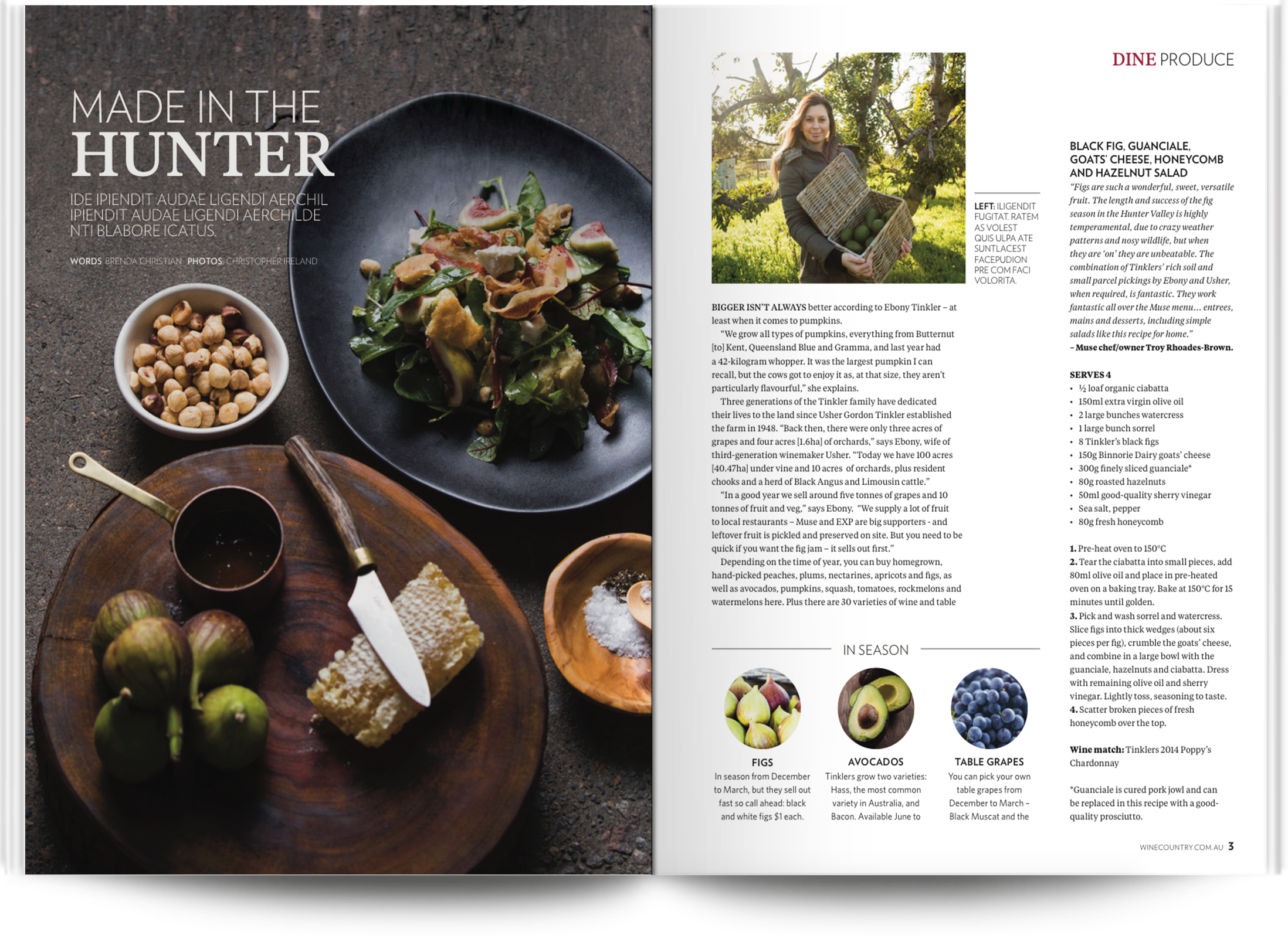 Hunter Valley magazine - Design by Kristy