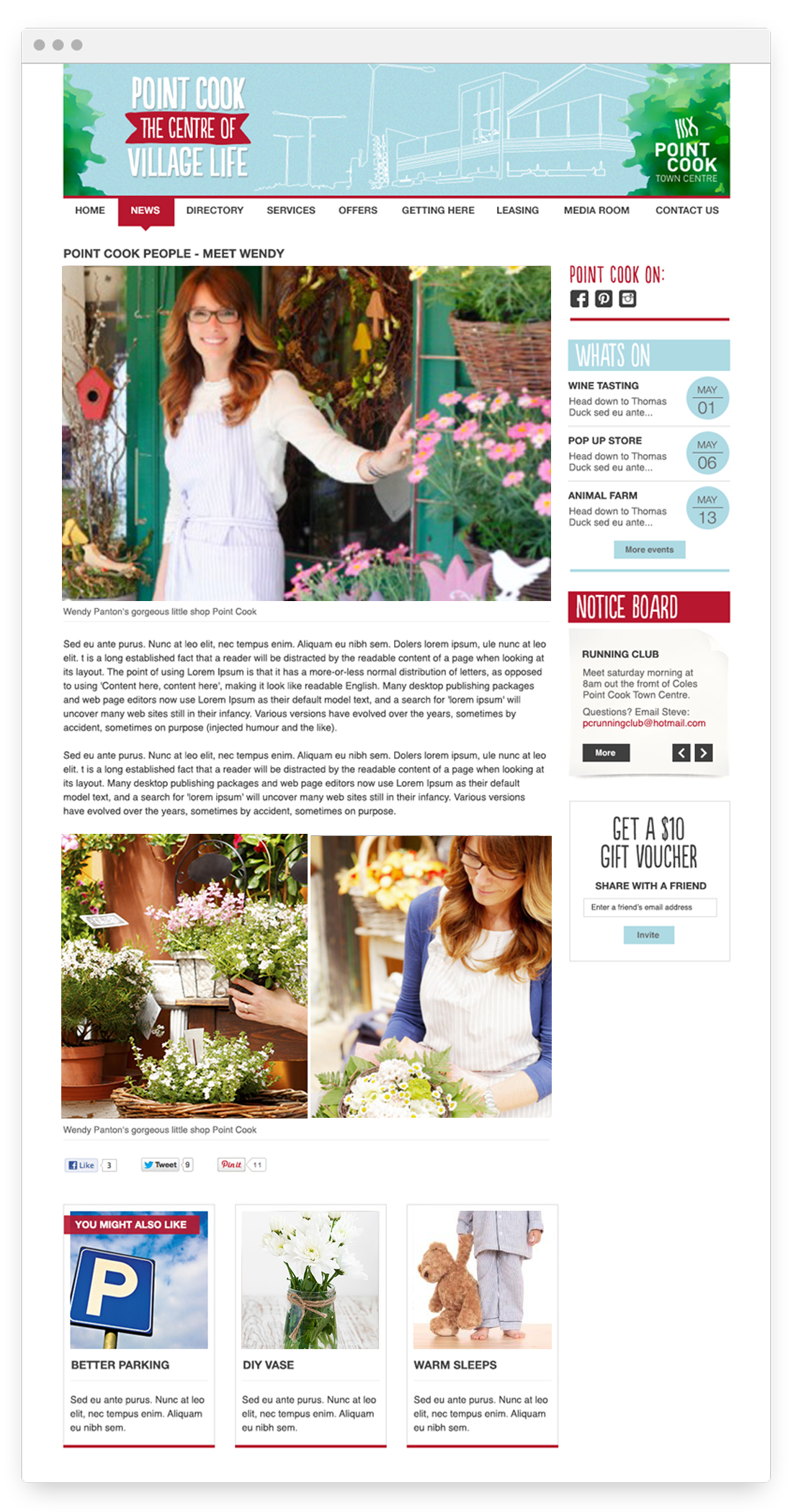 Point Cook article mockup - Design by Kristy