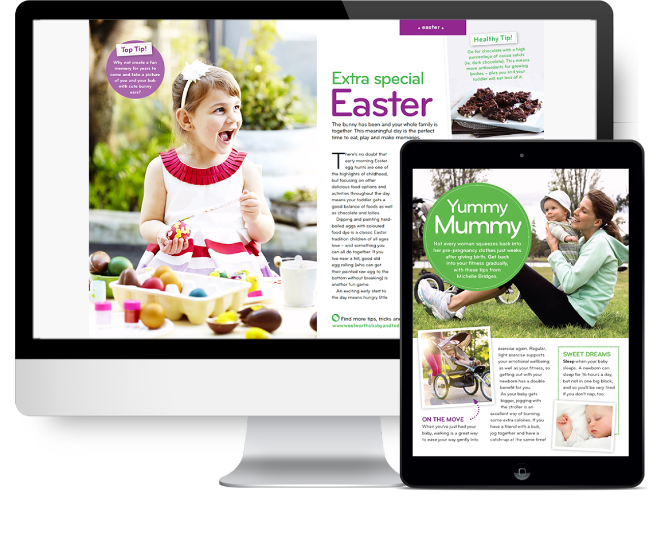 Woolworths e-guide - Design by Kristy